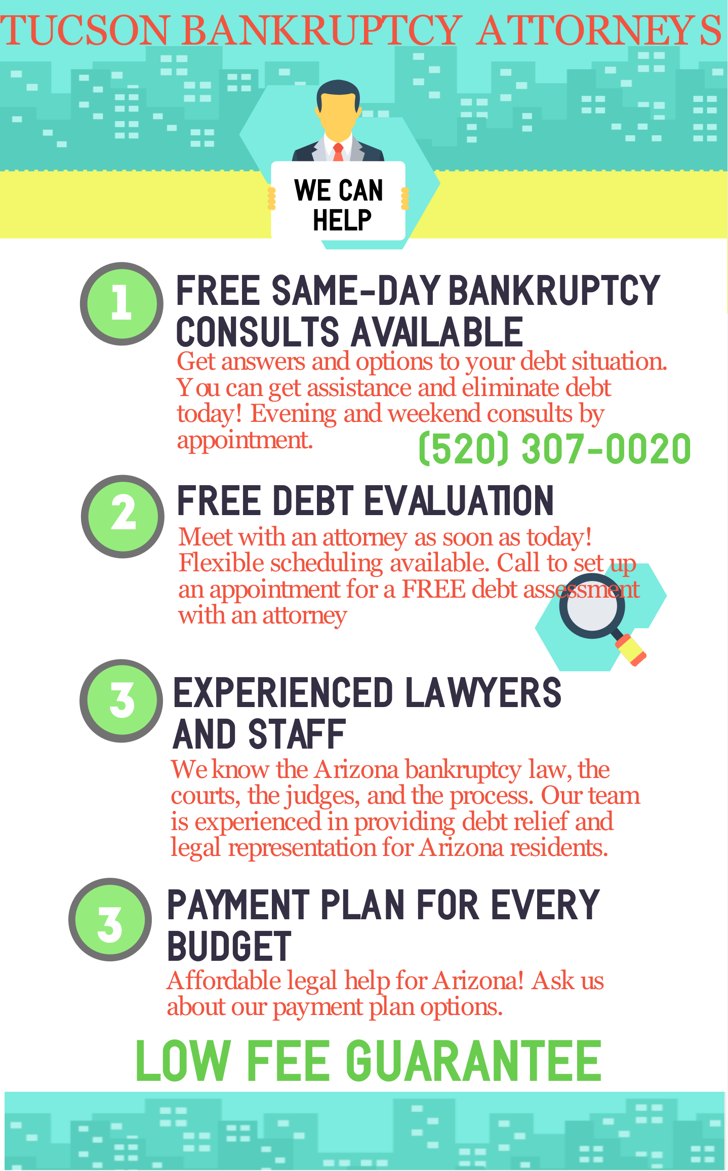 Infographic about Arizona bankruptcy